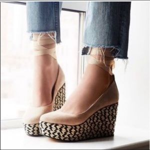 Reposh- Free People Camel Charade Wedges